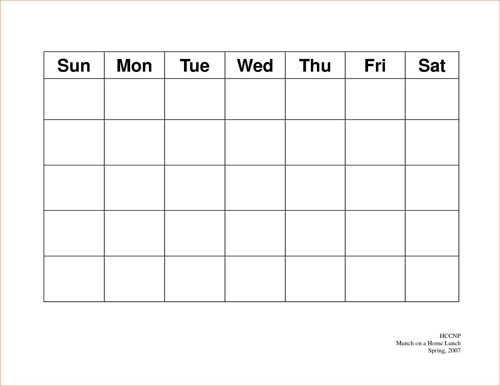 Calendar 5 Day Weekly Calendar Template On 5 Week Calendar