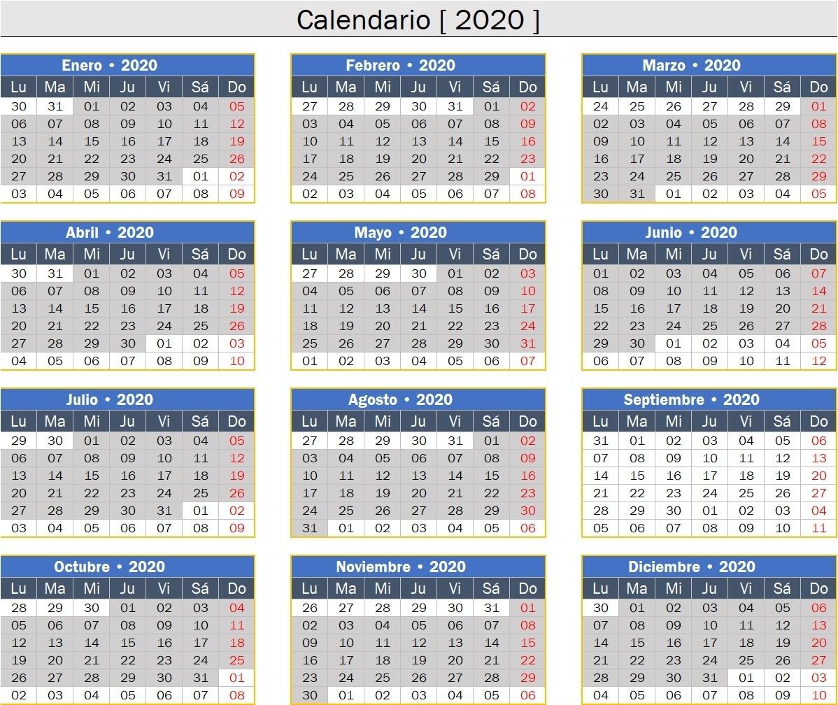 Calendario 2019 Perú Feriados Excel [Descargar] • Excel No