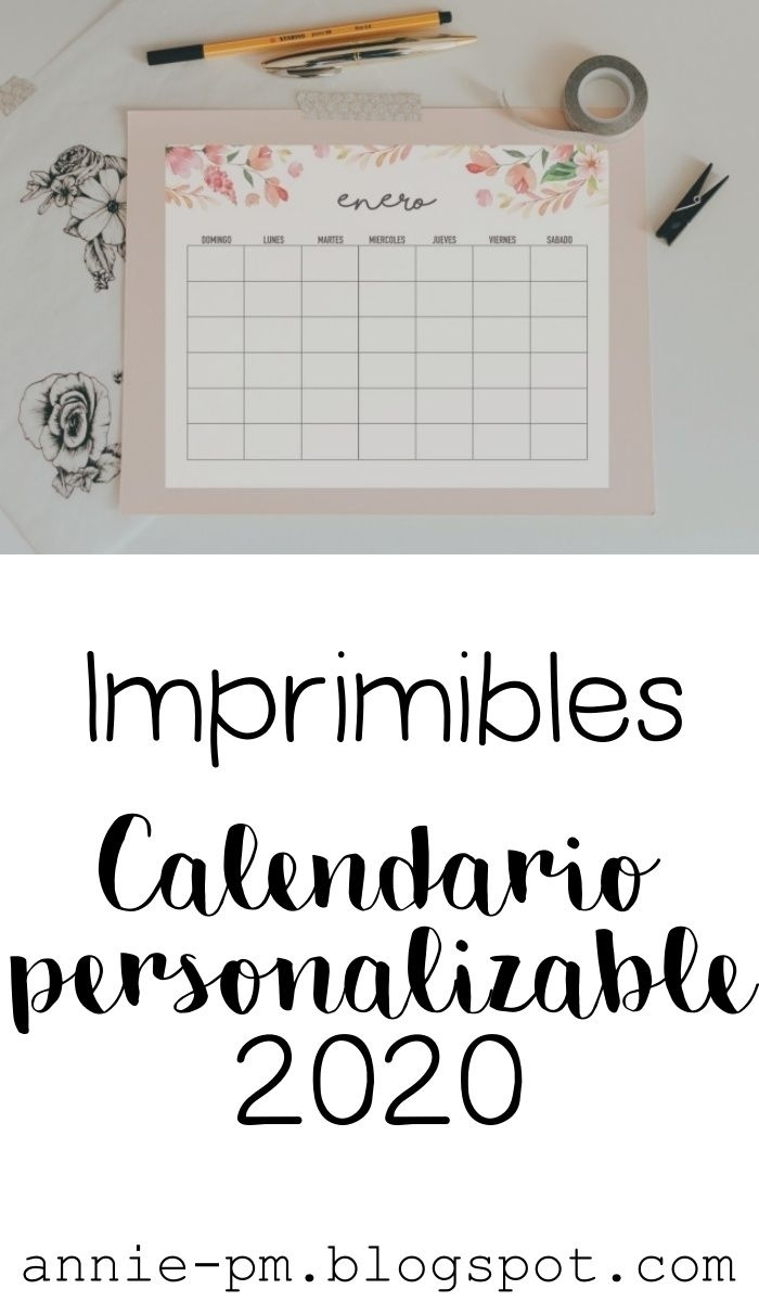 Calendario 2020 Personalizable En 2020   Libreta De Apuntes