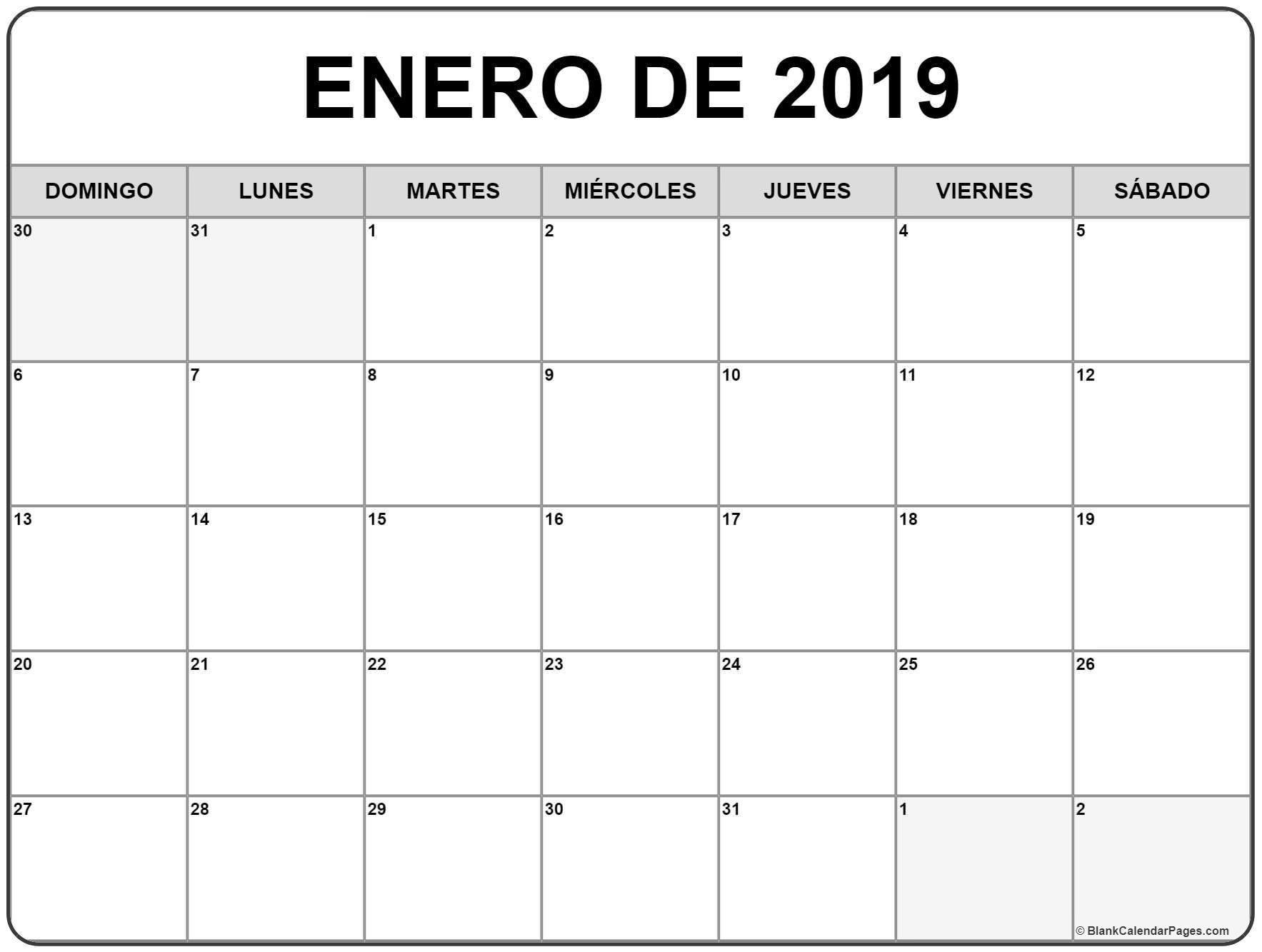 Calendario 2020 Puerto Rico Para Imprimir - Calendario 2019
