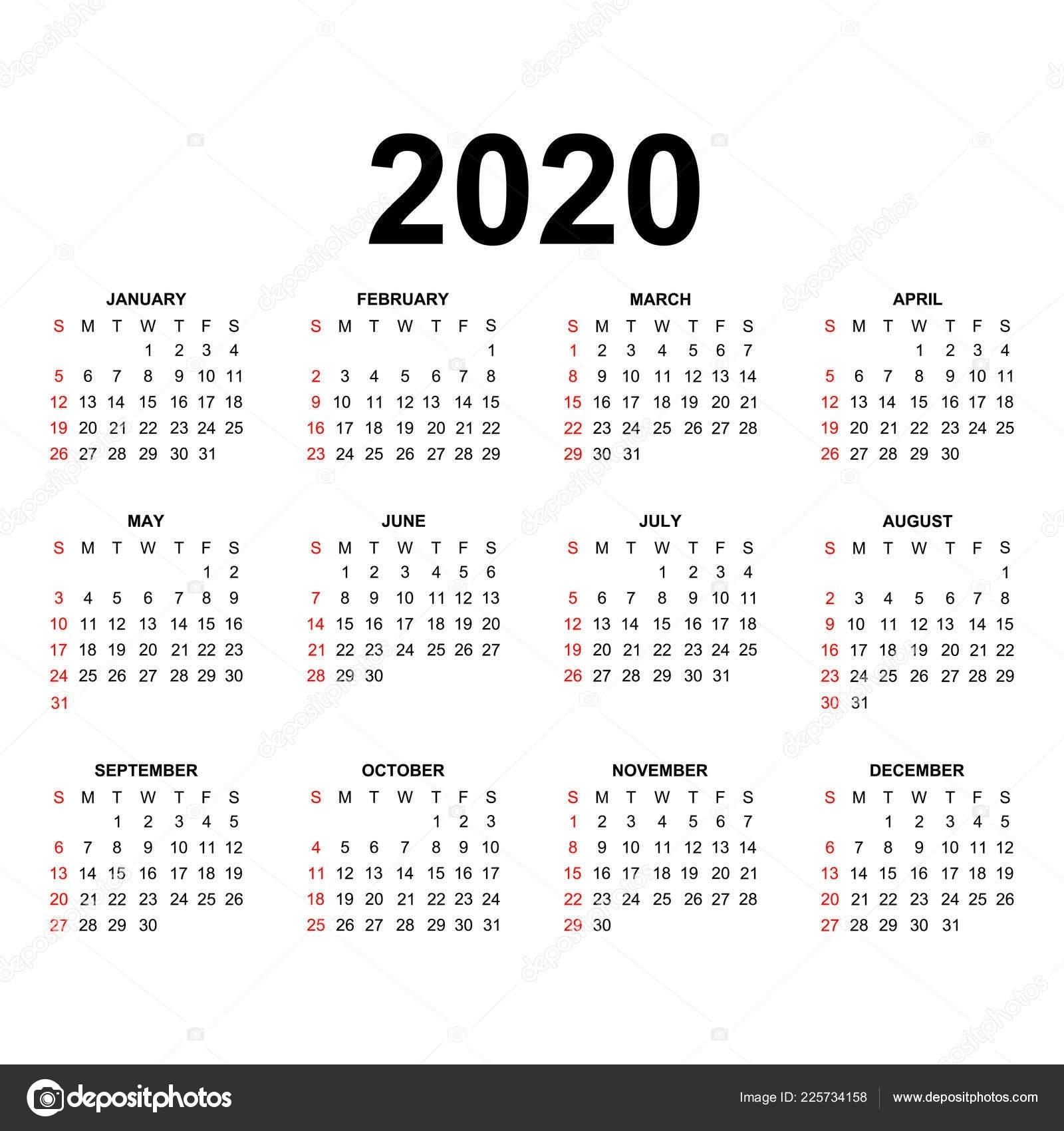 Calendario 2020 Usa - Calendario 2019