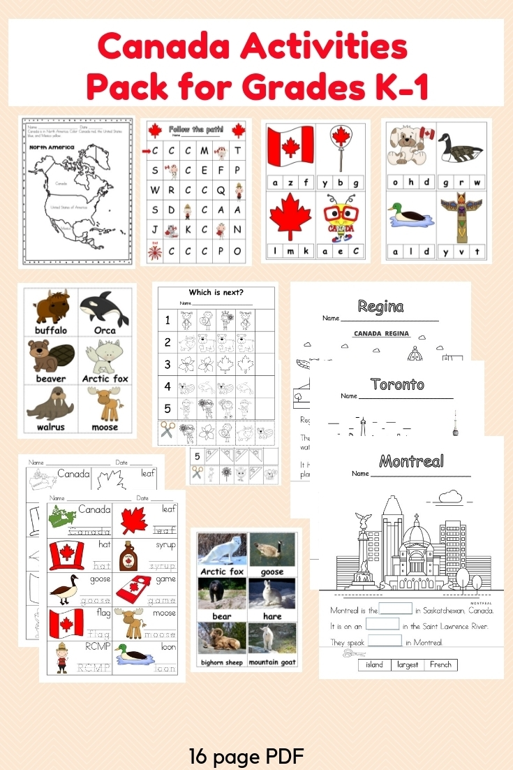 Canada Activities Pack For K-1 | Castle View Academy