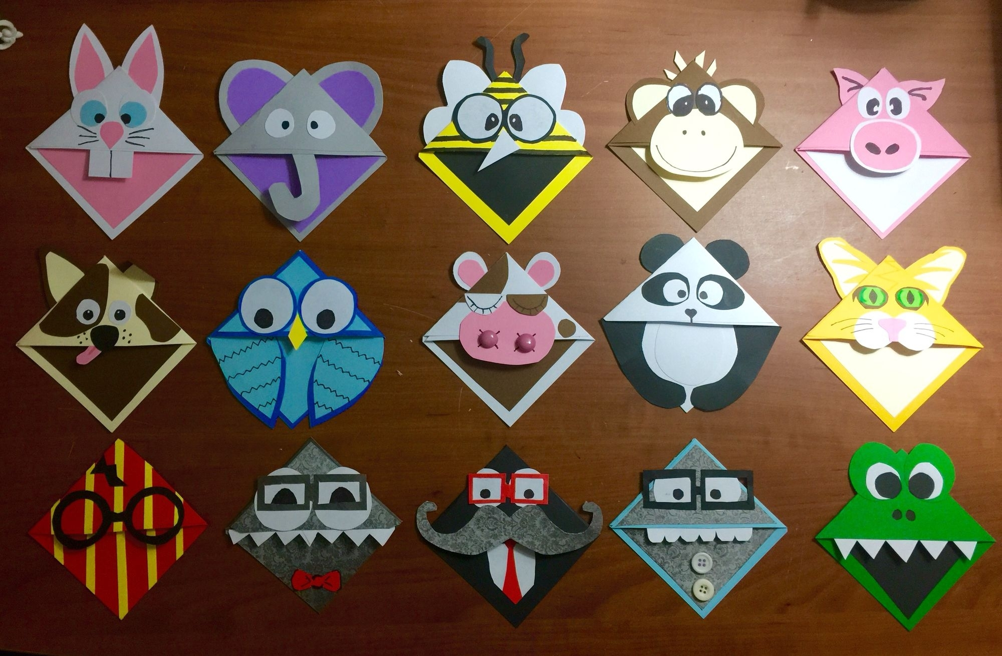 Character Bookmark Corners   Bookmarks Handmade, Origami