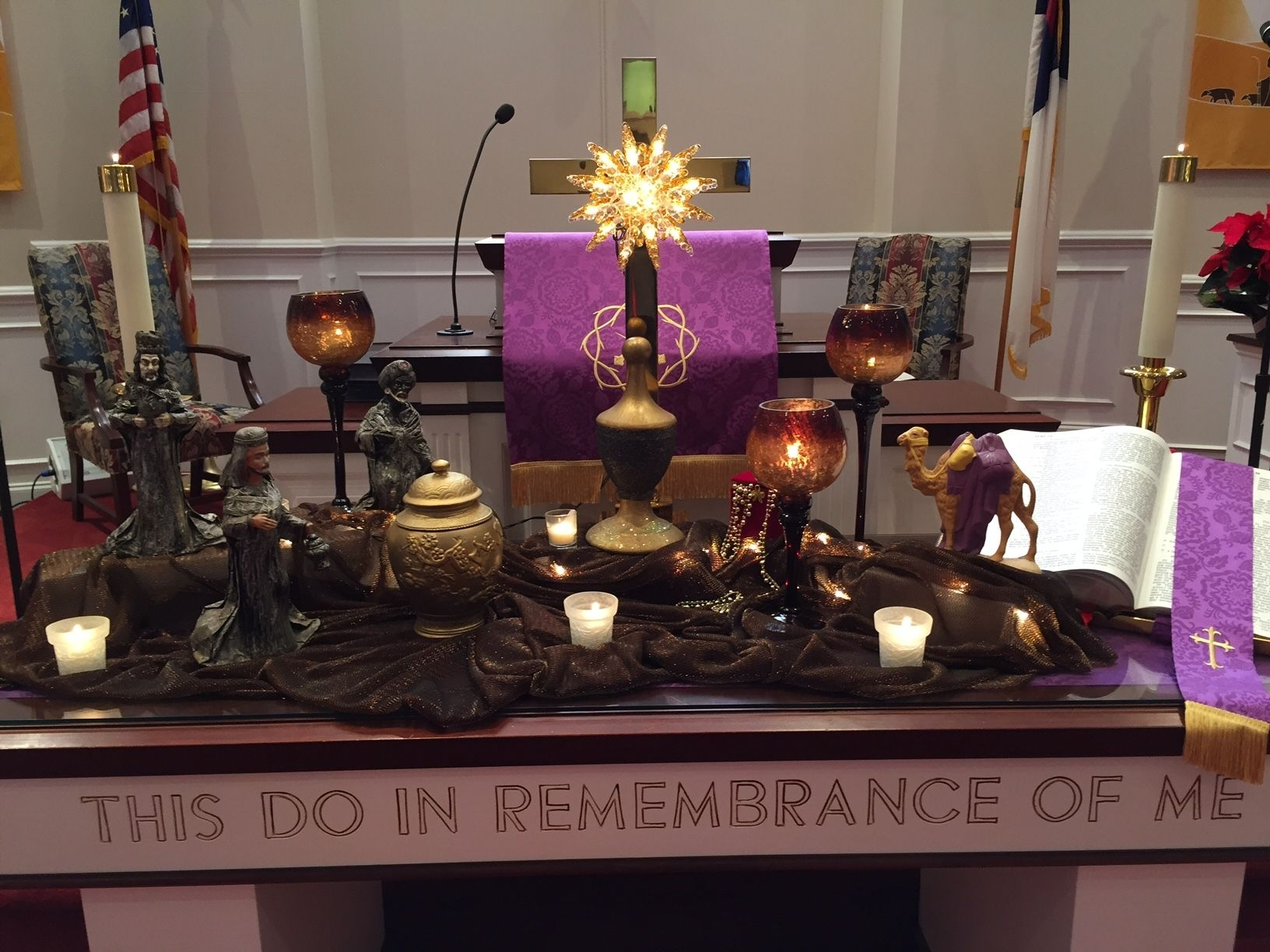 Christmas Altar Remake Of First United Methodist Church For