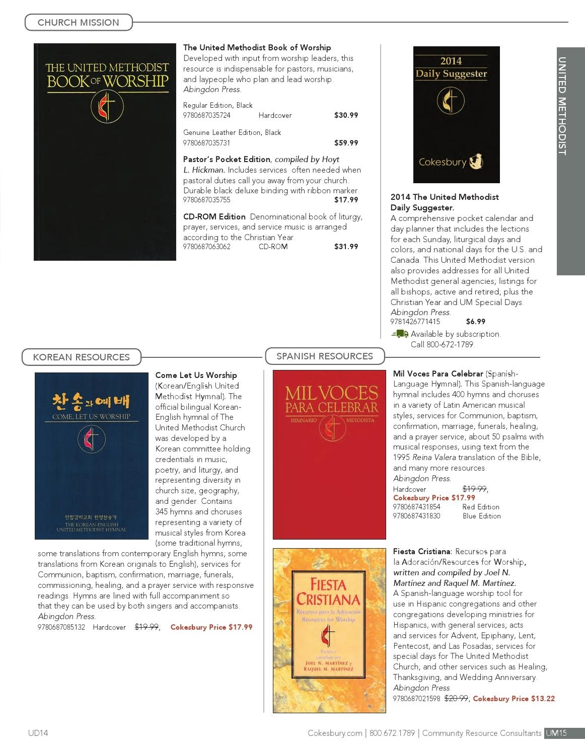 Cokesbury 2014 Essential Resources Catalog By United