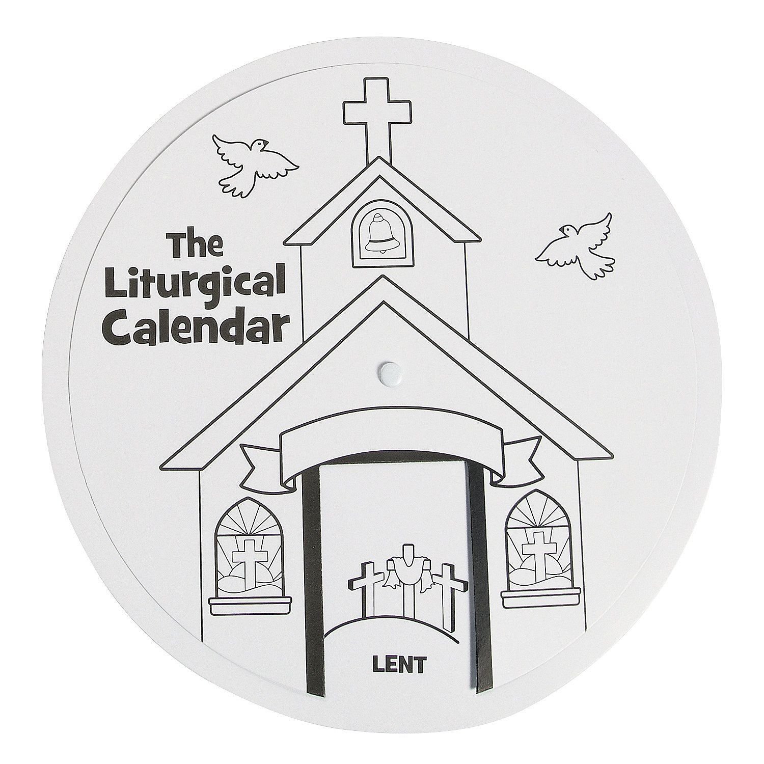 Color Your Own Liturgical Calendar Learning Wheel ($6.50 For