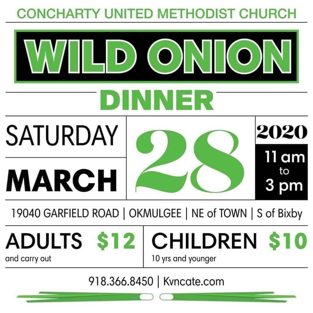 Concharty United Methodist Church Wild Onion Dinner – Pow