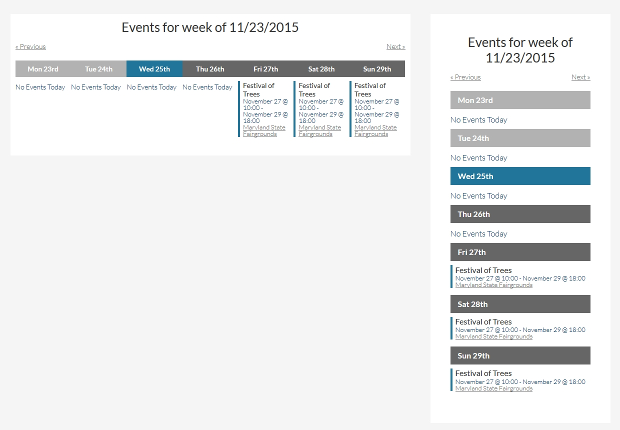 Configuring The This Week Widget - Knowledgebase | The