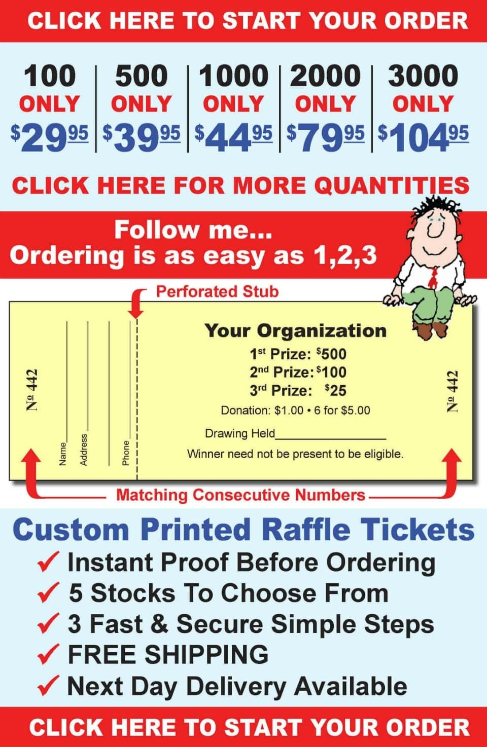 Custom Raffle Tickets Are Our Specialty | Raffleticket