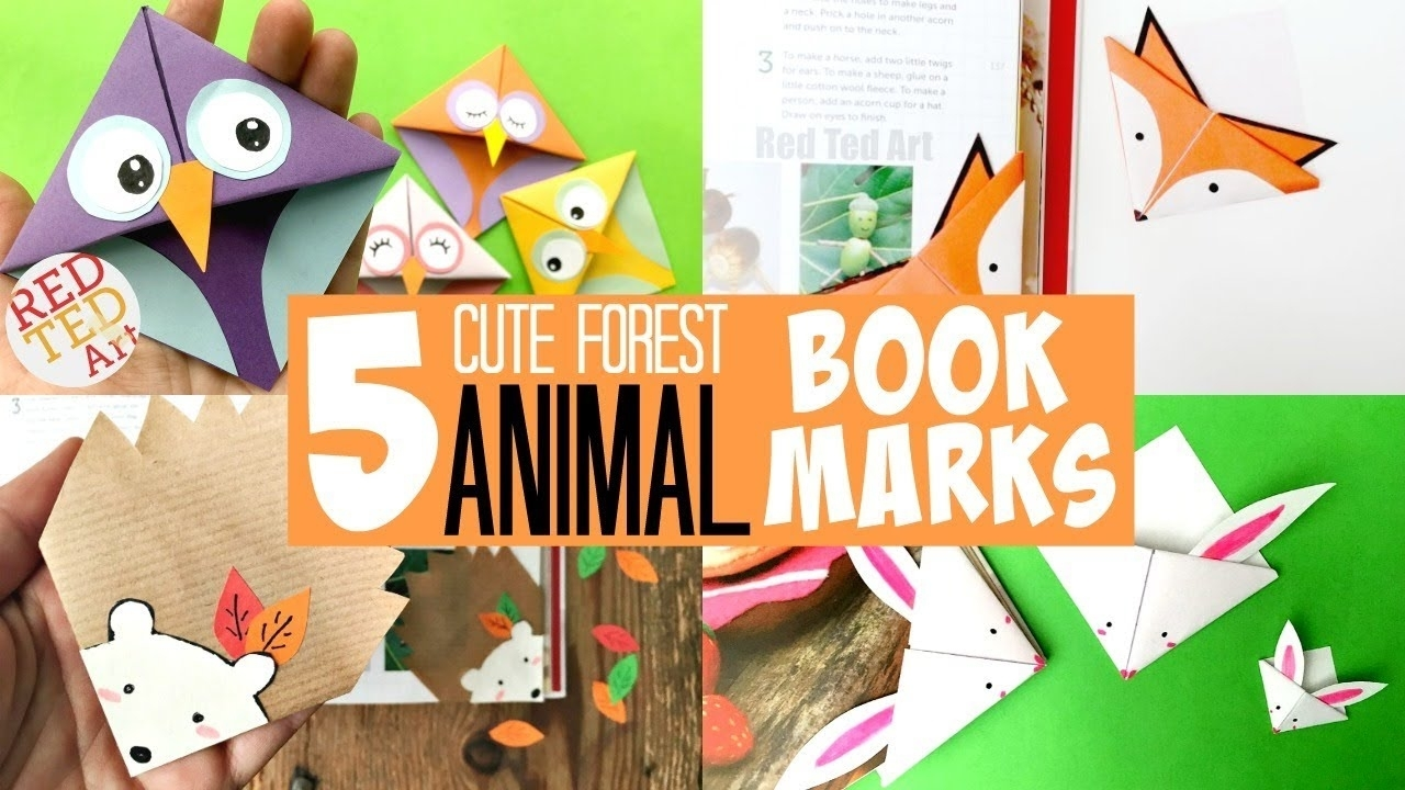 Cute Animal Bookmark Corners Forest Edition - Must See Super Cute Animal  Corner Bookmark Designs