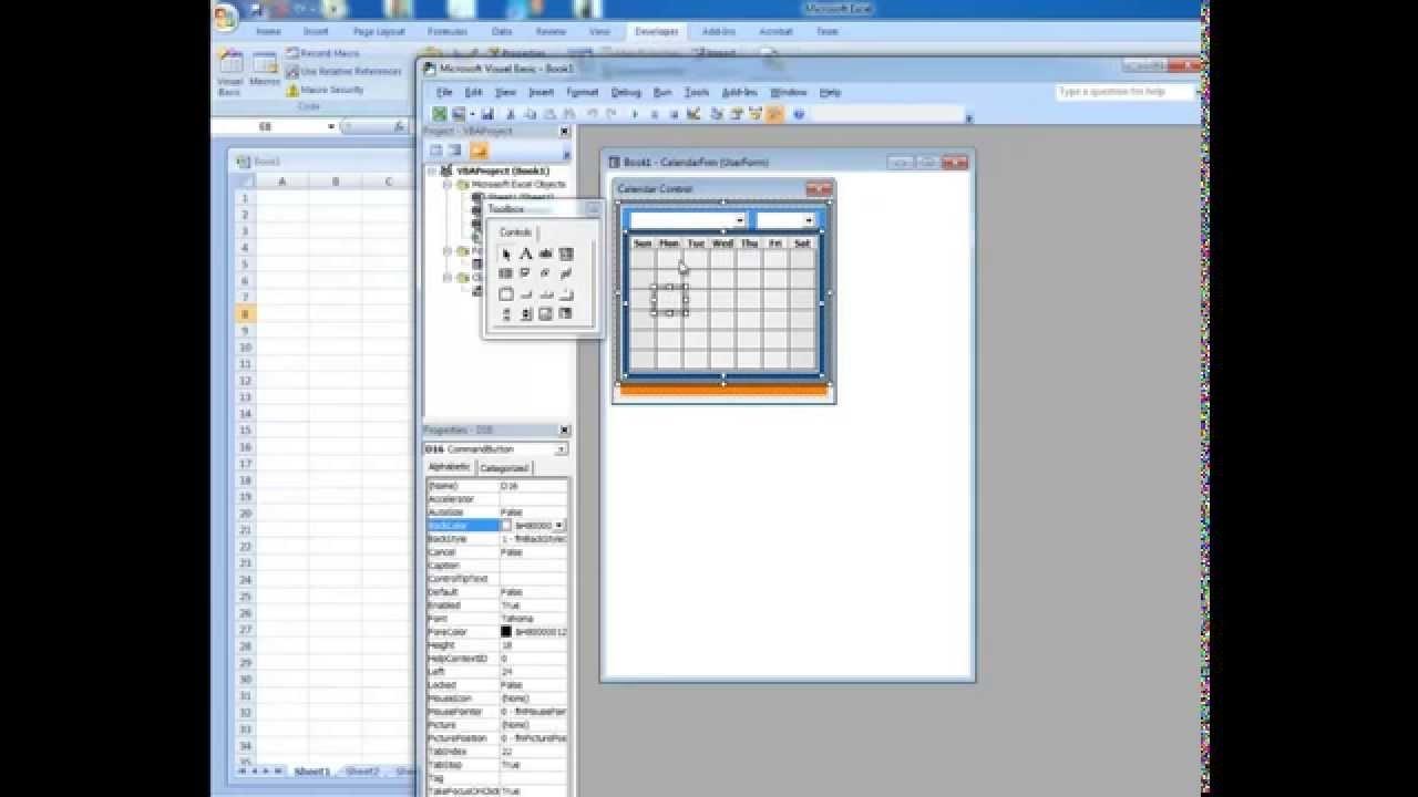 Date Picker In Microsoft Excel - Microsoft Excel Date Picker