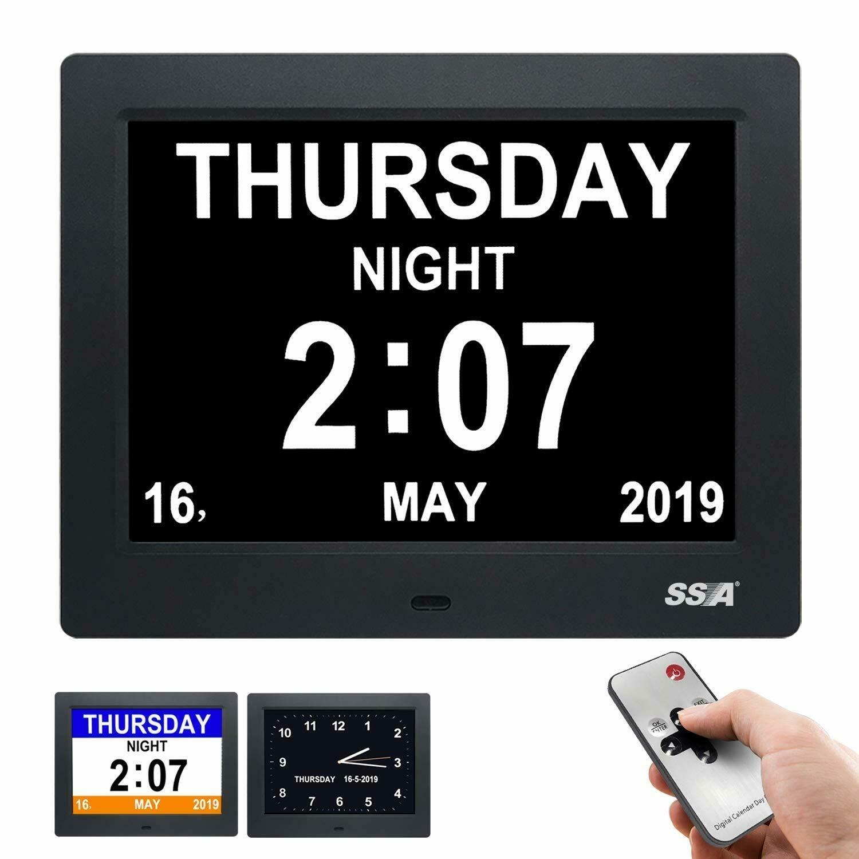 Digital Dementia Calendar Day Clock For Memory Loss Elderly Seniors