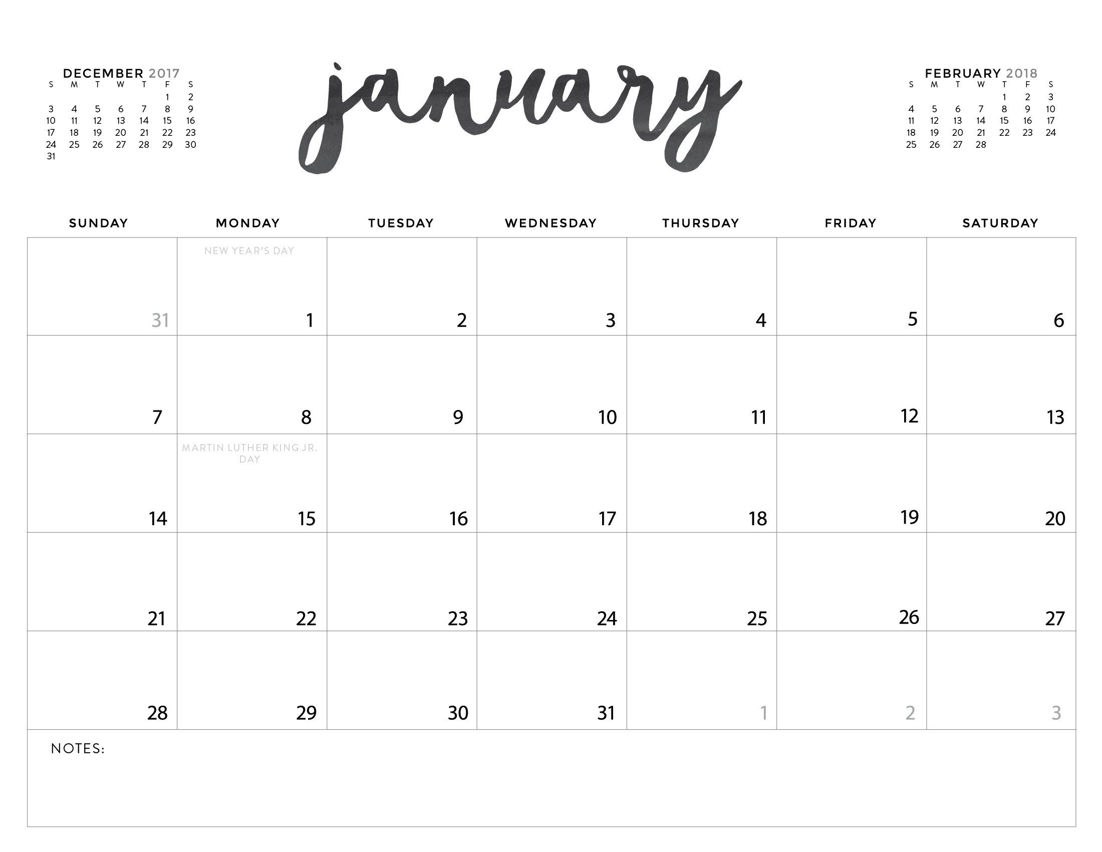 Download Your Free 2018 Printable Calendars Today! 28