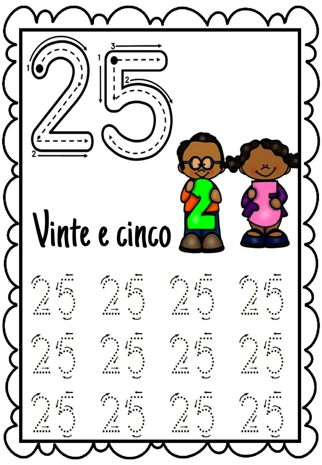 Educação Infantil: Livro Dos Números Pontilhado (1 A 30