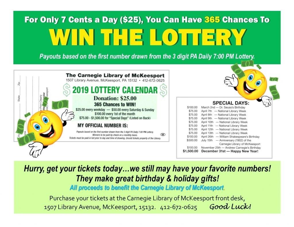 Elegant 51 Illustration Lottery Calendar Fundraiser Template