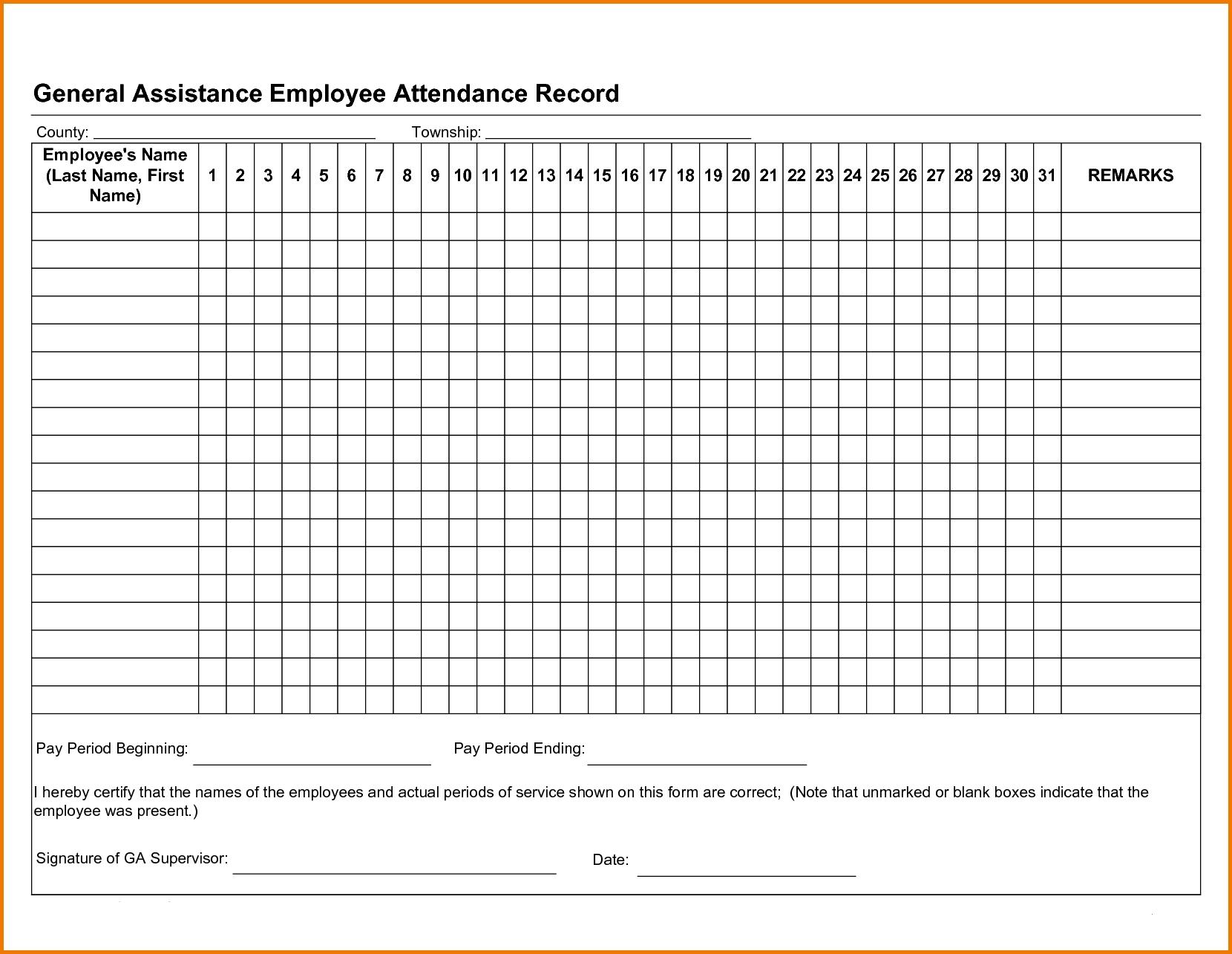 Employee Attendance Tracker [Student, Employee] Excel, Pdf