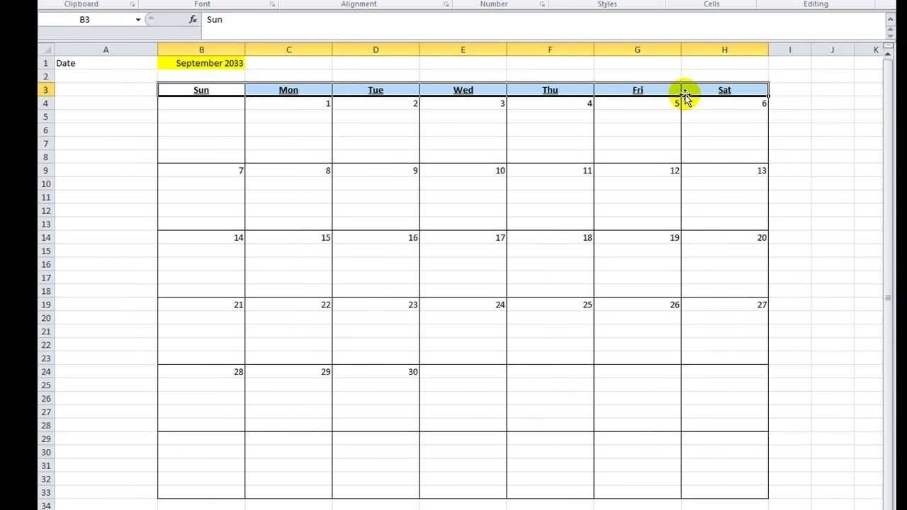 Excel Vba Tips N Tricks #16 Make A Calendar In Excel Vba