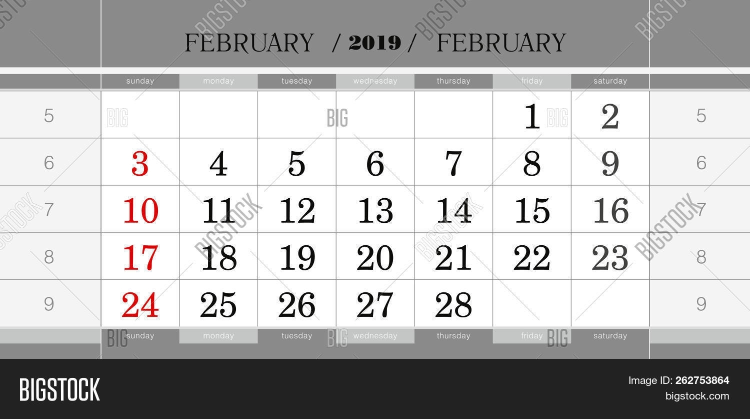 February 2019 Vector & Photo (Free Trial) | Bigstock