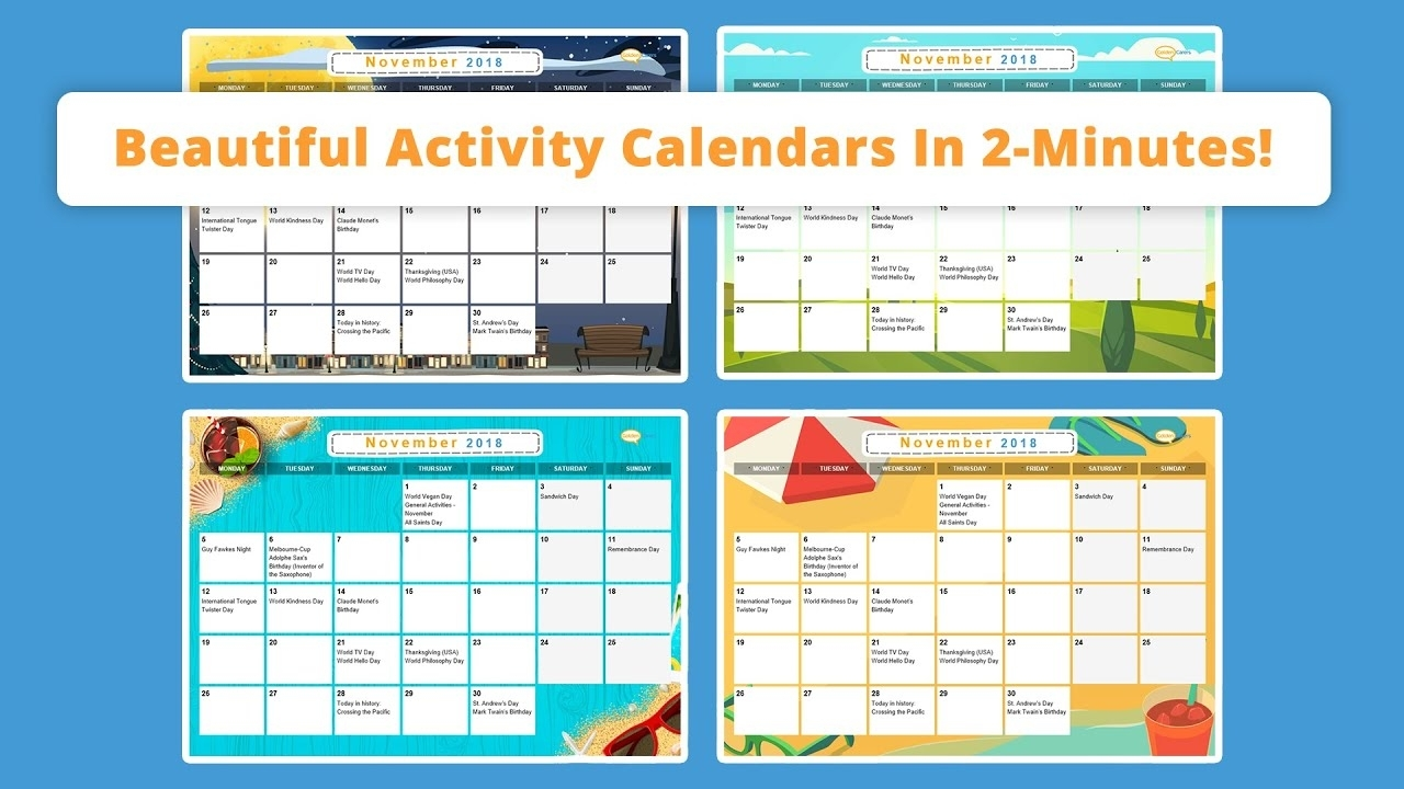 Free Activity Calendar For Seniors