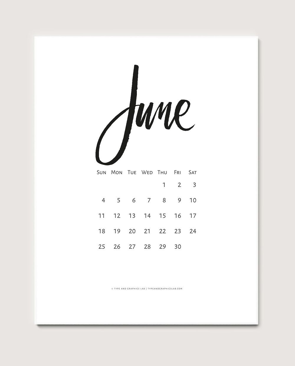 Free Calendar: June 2017 (With Images)   Free Calendar
