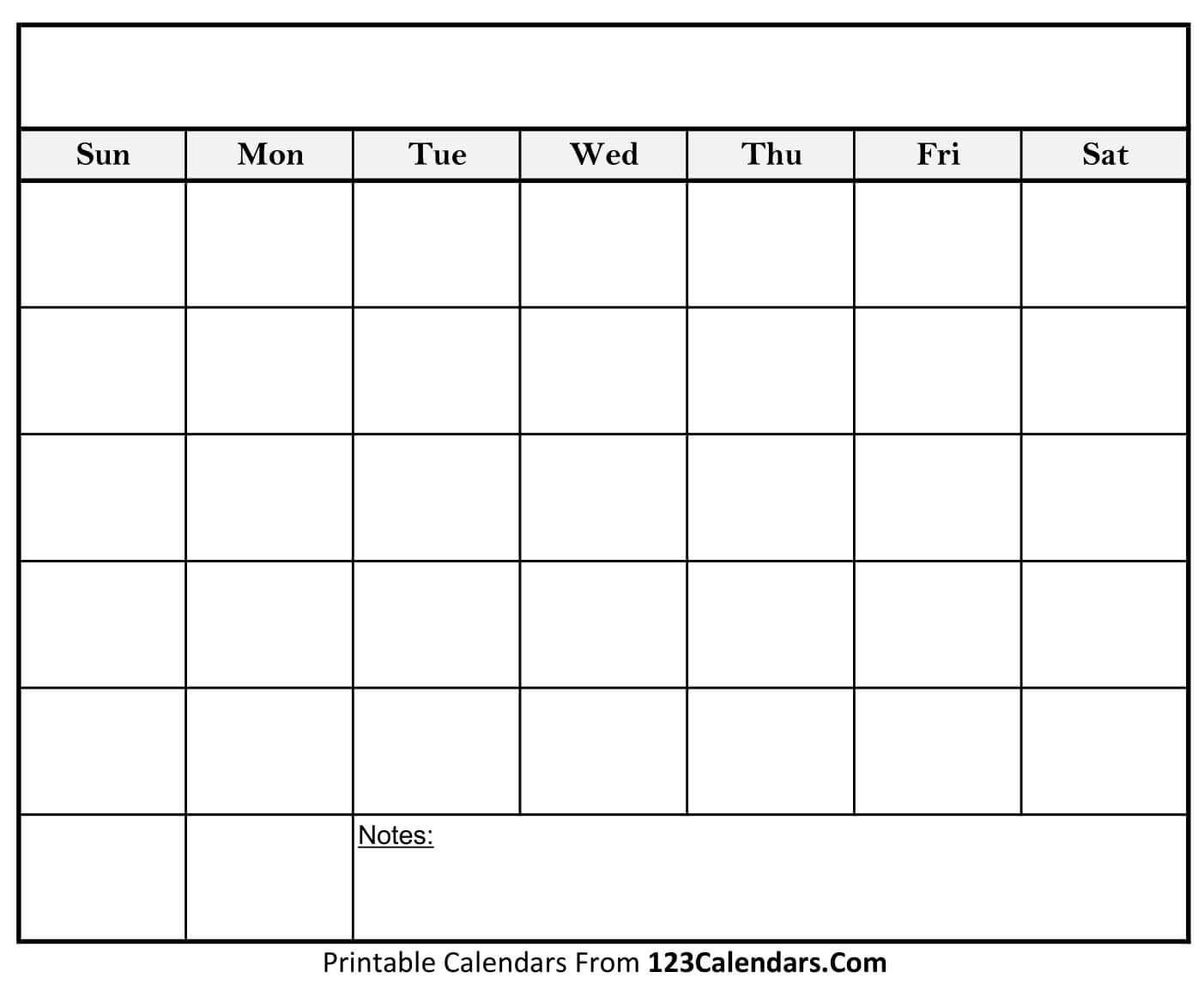 Free Printable Blank Calendar | Printable Blank Calendar