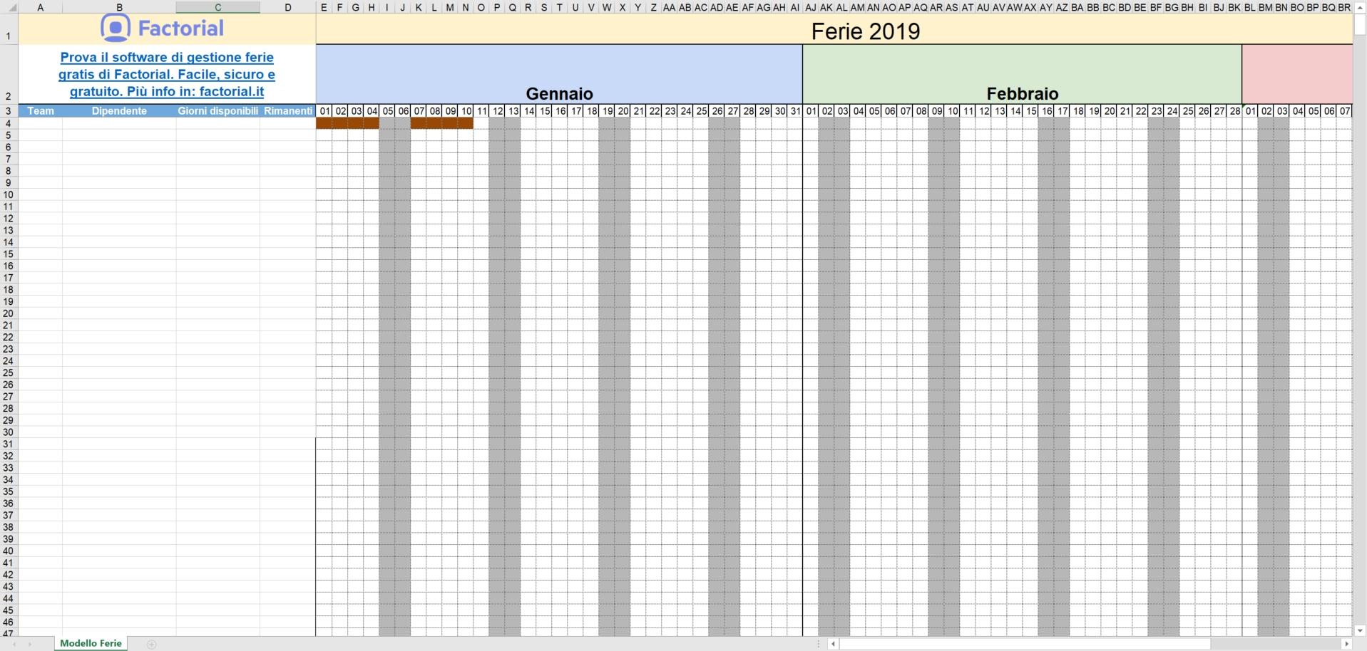 Gestione Ferie Dei Dipendenti Con Excel [Modello 2019]