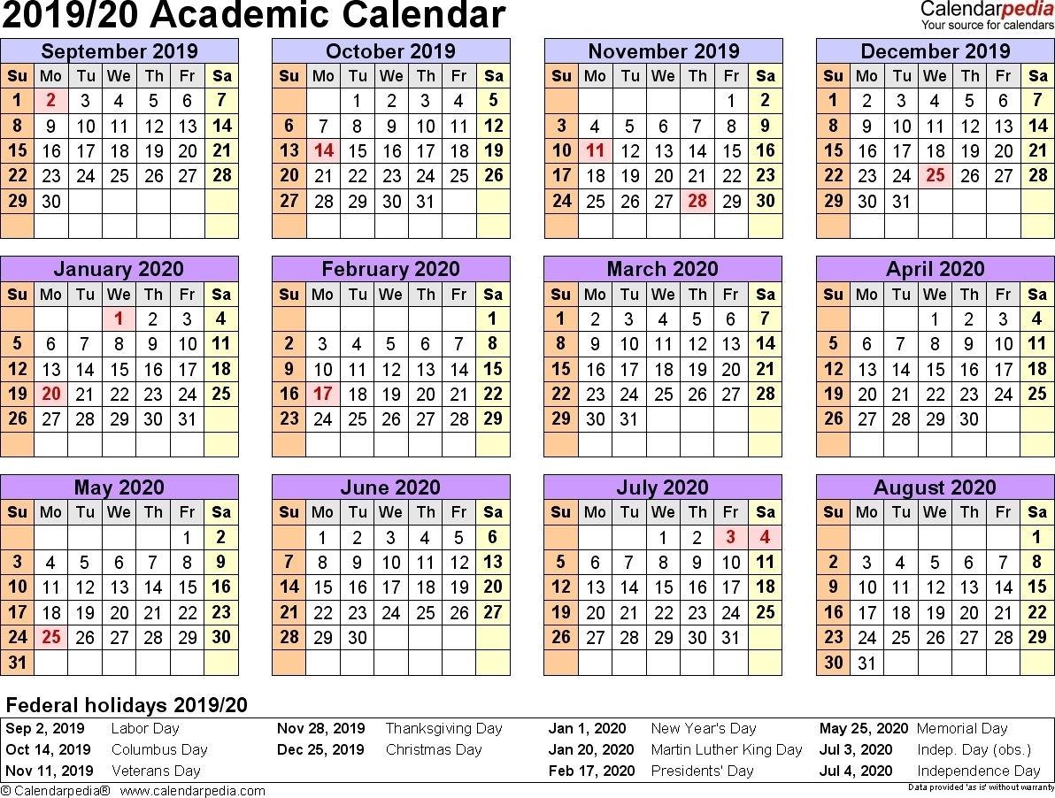 Get 2019 2019 Blank School Calendar Year At A Glance | Free