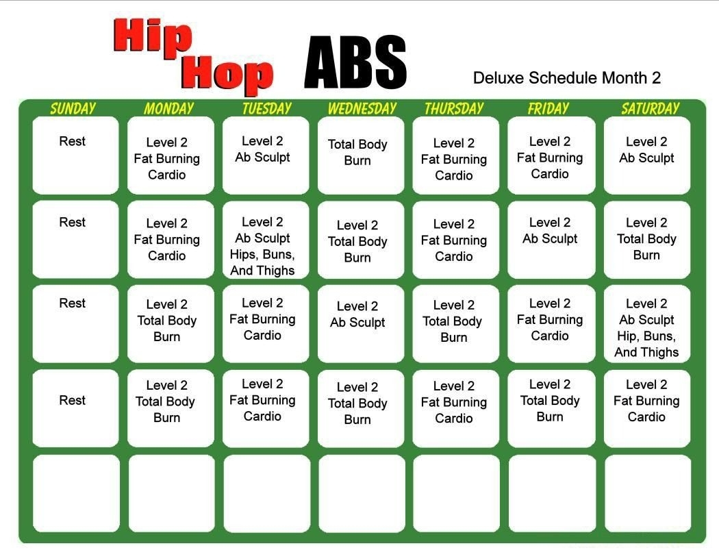Hip Hop Abs 6 Day Slim Down Meal Plan Pdf | Hip Hop Abs