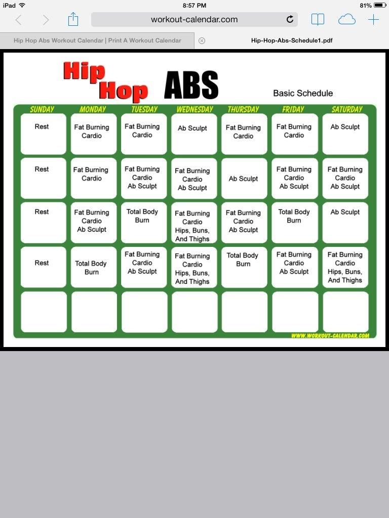 Hip Hop Abs Calendar - Mance