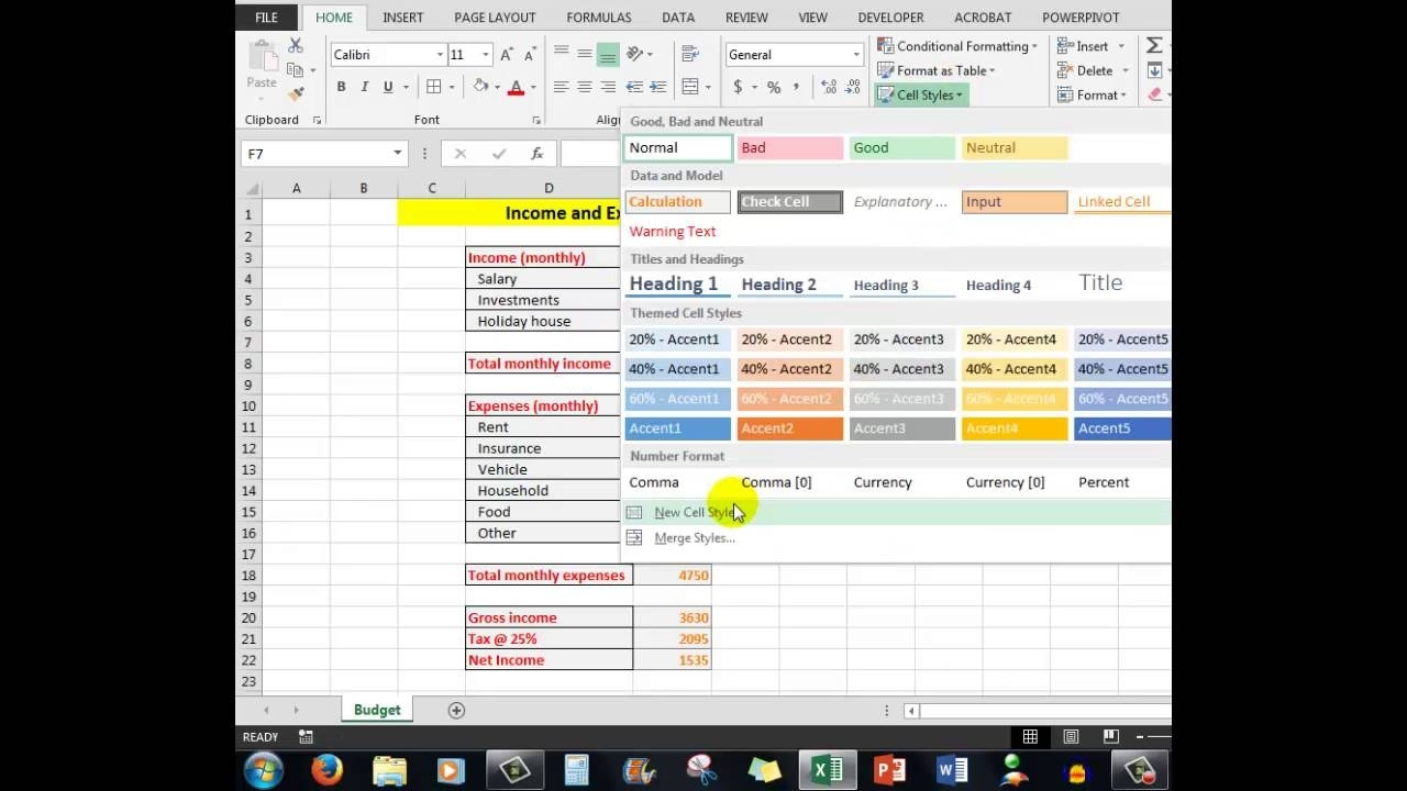 How To Color Code Cells In Excel Worksheets Using Cell Styles