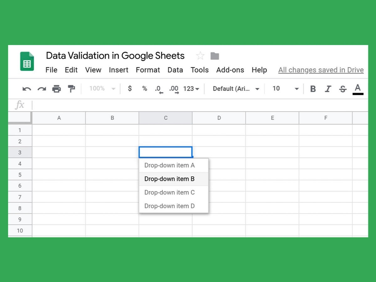 How To Create A Drop-Down List In Google Sheets - Techrepublic