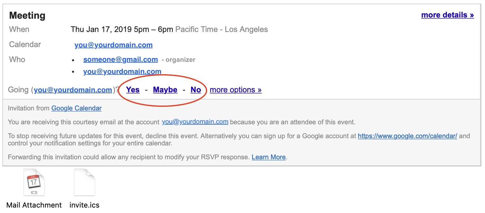 How To Respond To Google Calendar Invites – Helm Support