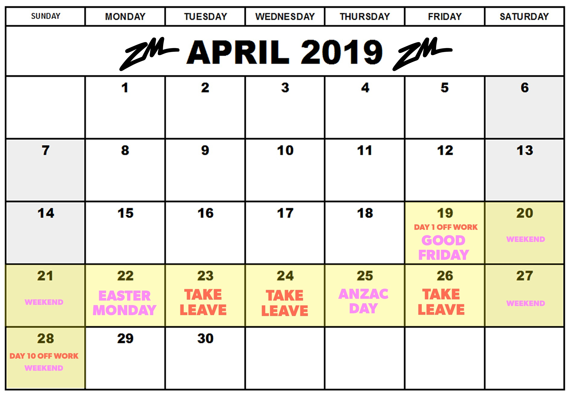 How You Can Take 10 Days Off This Month Only Use 3 Days Of Leave