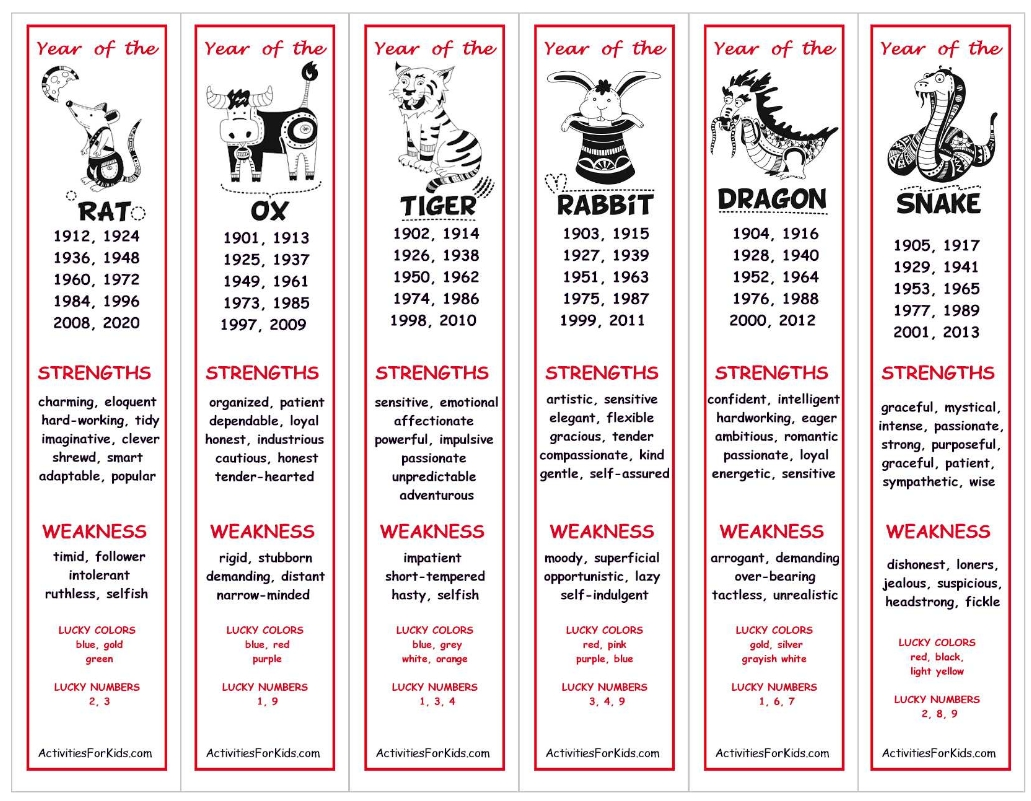Http://activitiesforkids/chinese-Zodiac-Bookmarks/ (With