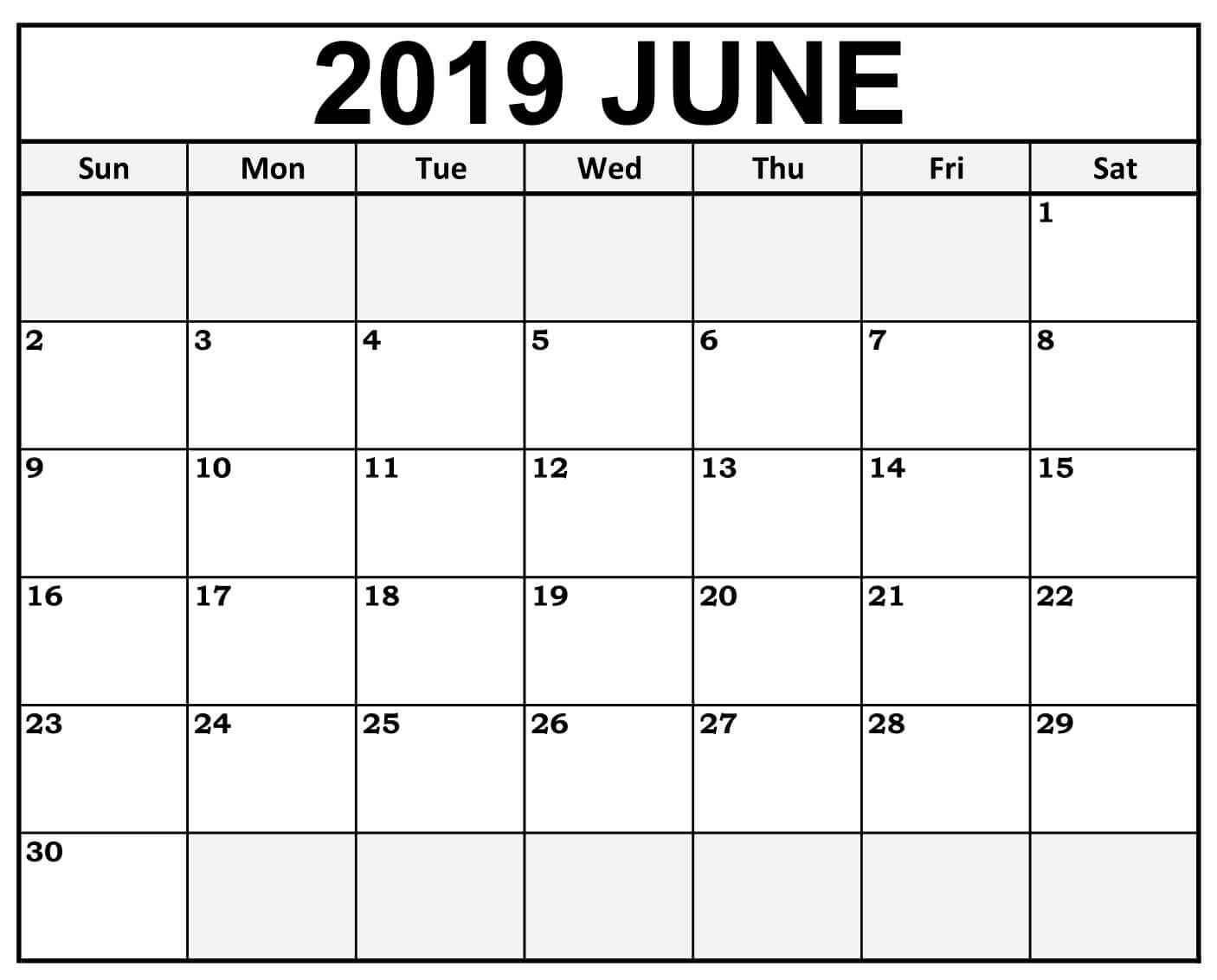 June 2019 Calendar Desk | September Calendar, Free Printable