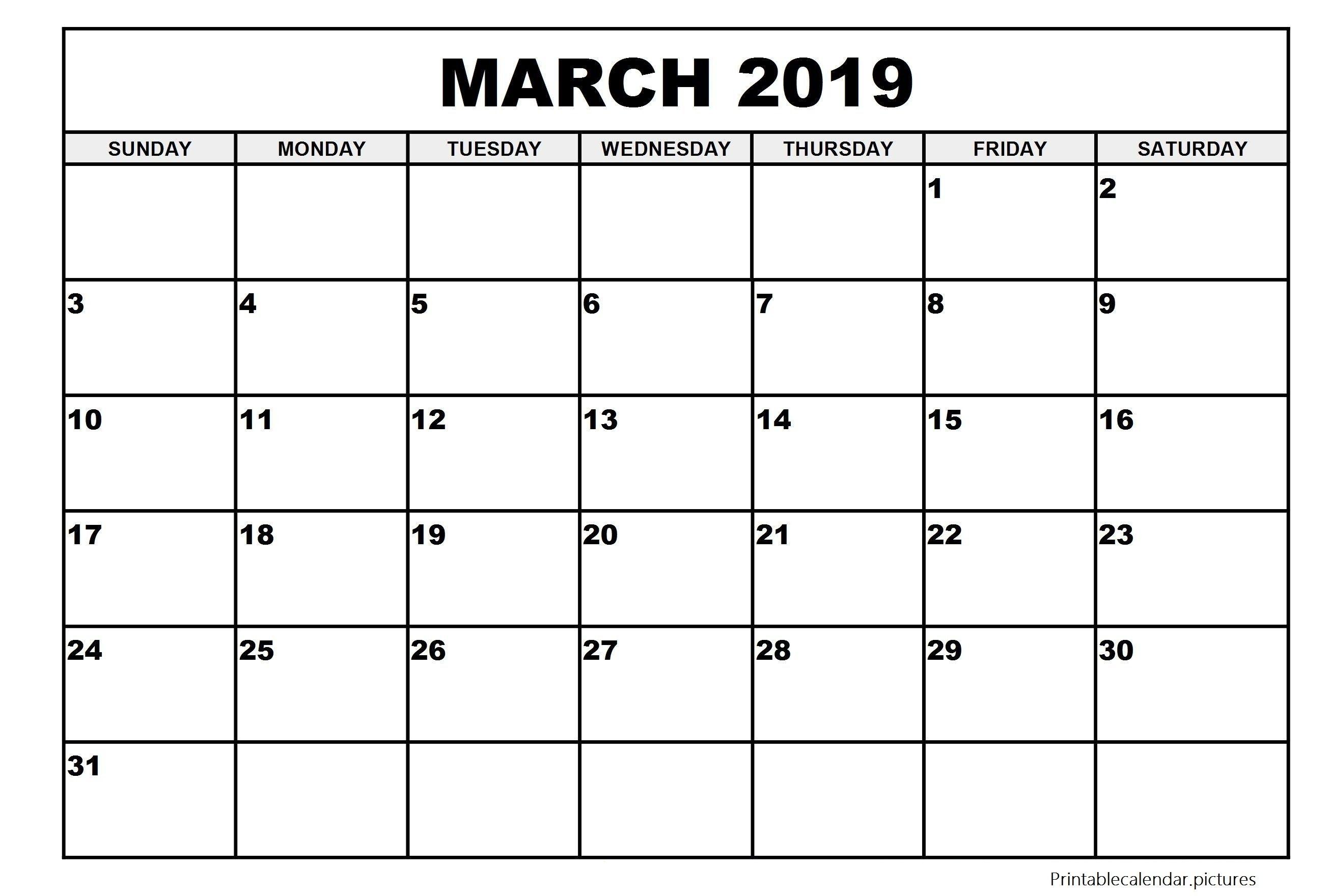 Large Printable Calendar May 2019 | Printable Calendar