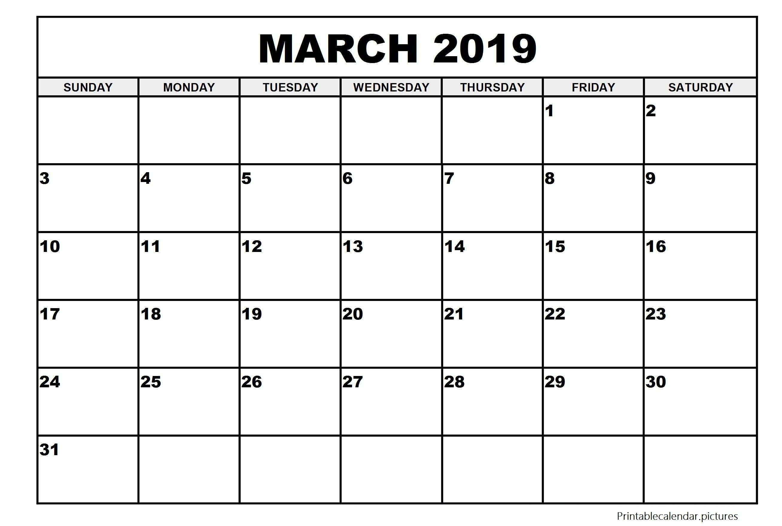 Large Printable Calendar May 2019 | Printable Calendar