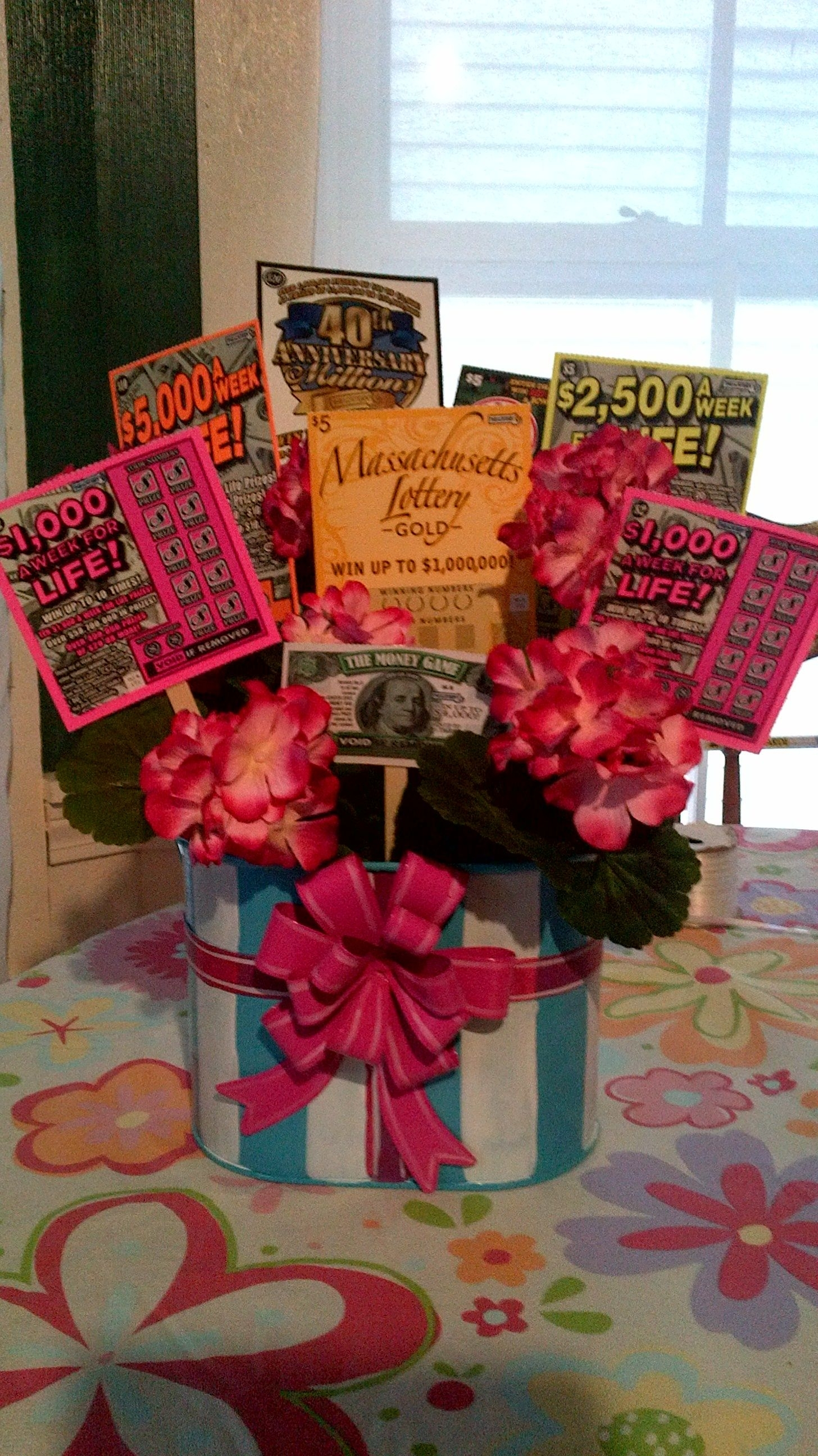 Lottery Ticket Raffle Or Silent Auction Basket - Cute Idea