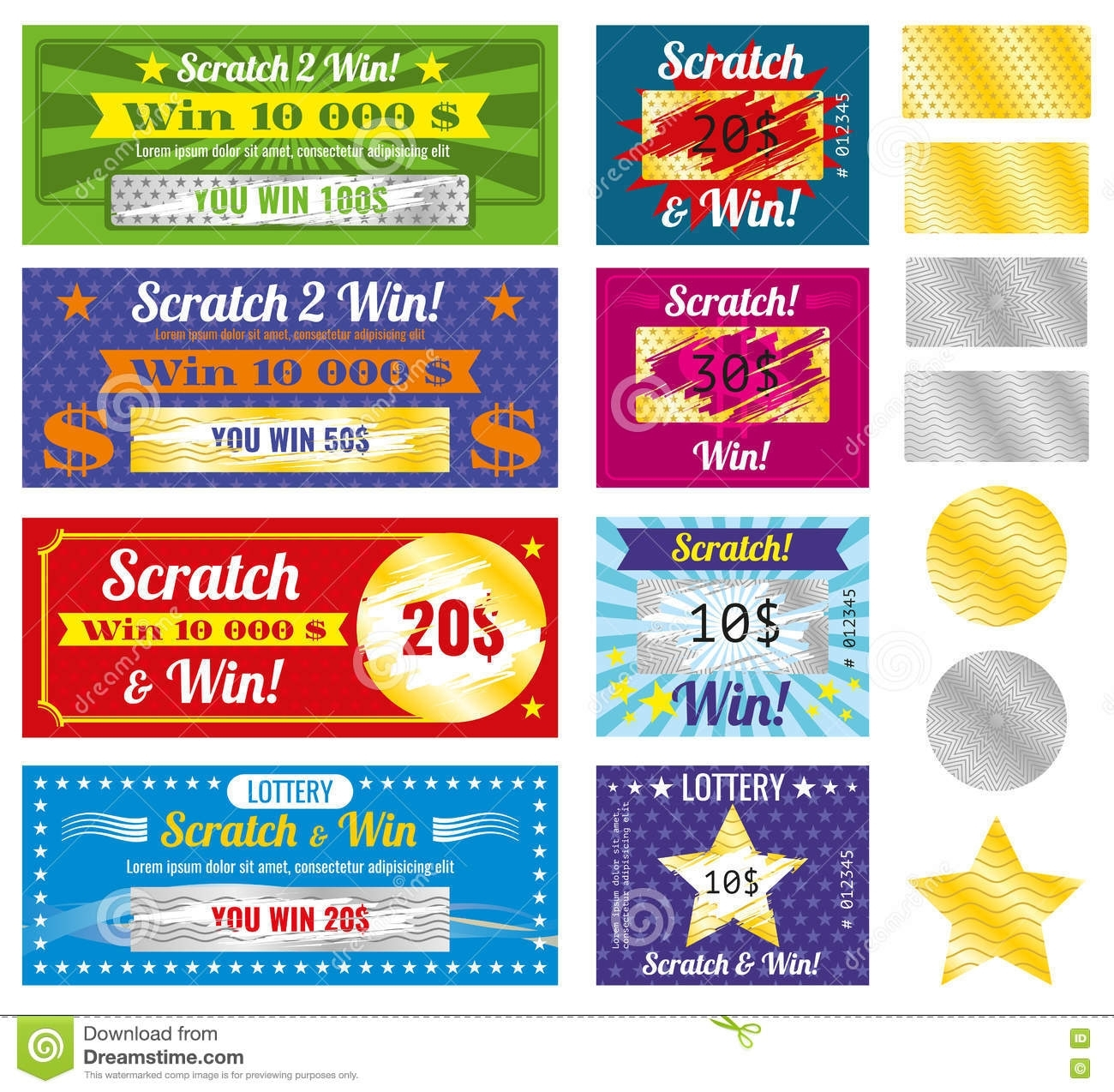 Lottery Tickets Of Scratch And Win With Effect From Marks