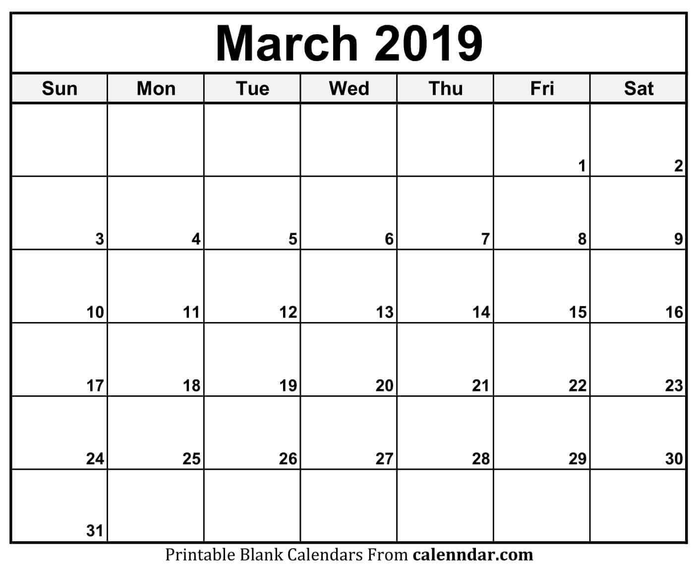 March Calendar 2019 11X17 #march #march2019Calendar