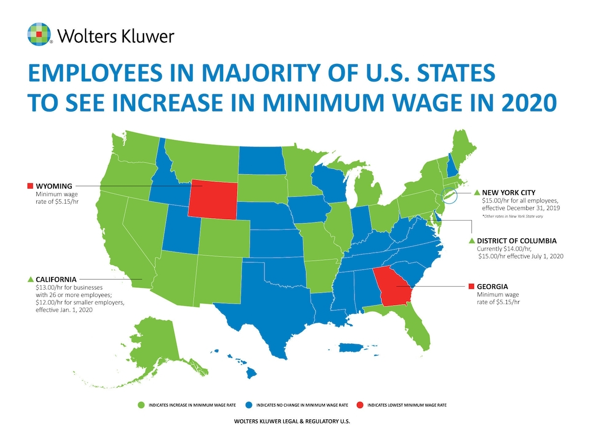 Minimum Wage Will Increase In Majority Of U.s. States In 2020