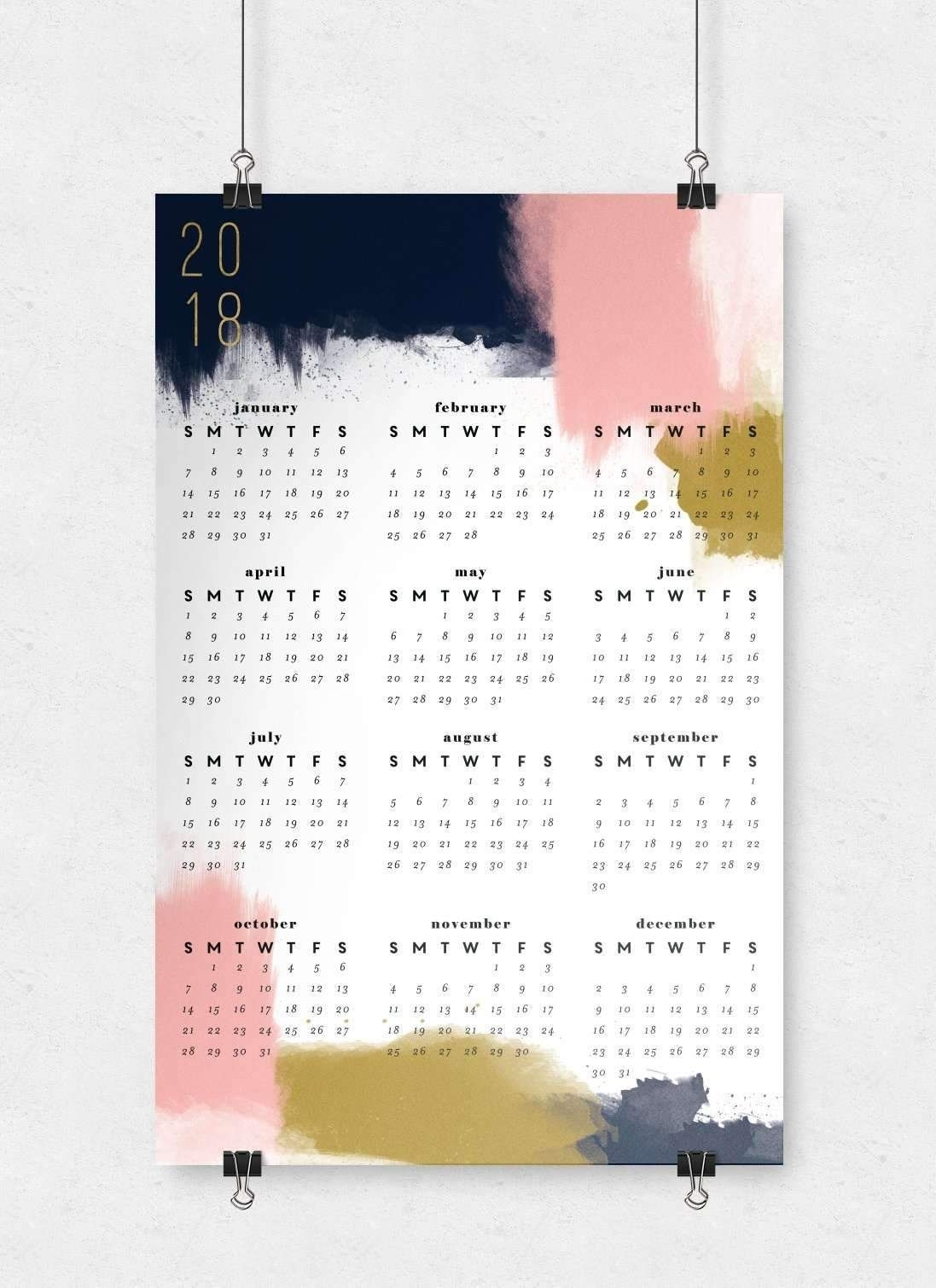Modern Abstract Wall Calendar   11X17 (With Images)   Wall
