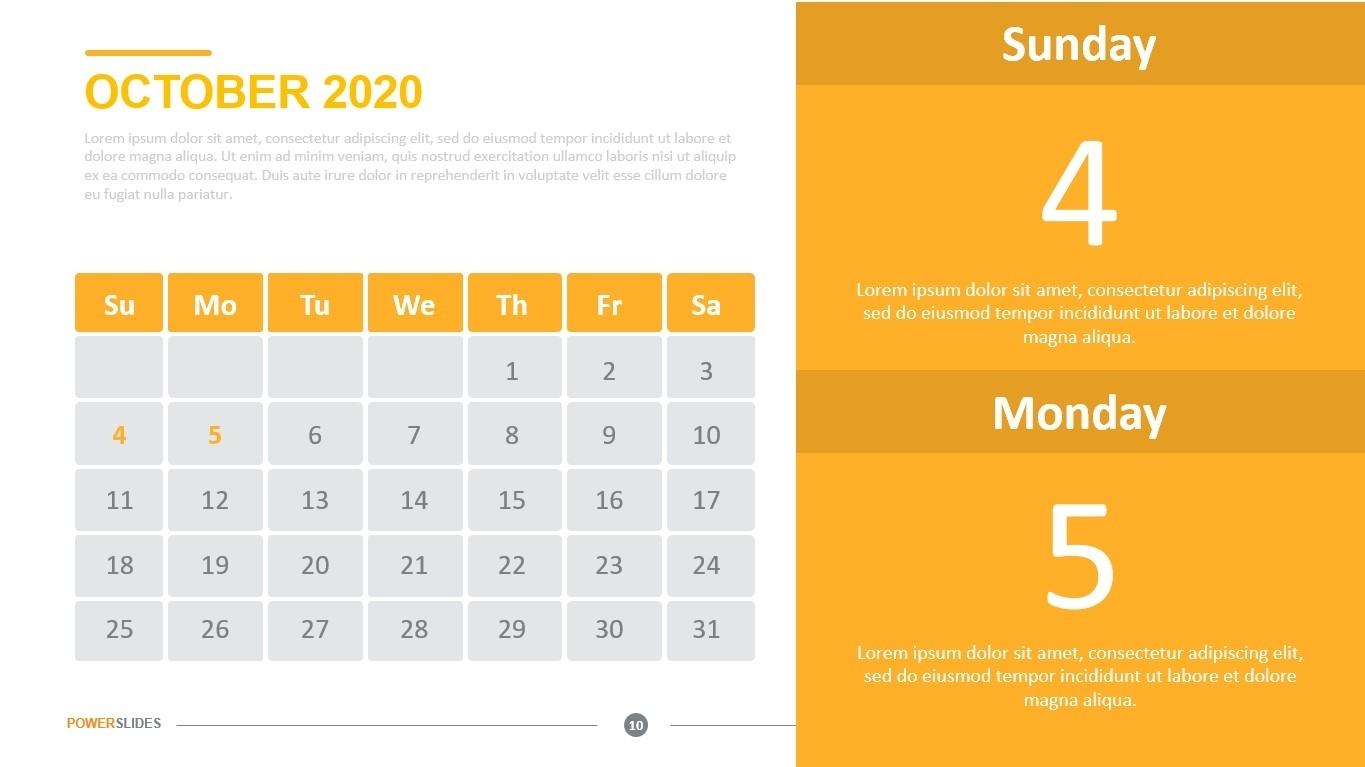 Monthly Calendar 2020   Download Now   Powerslides™
