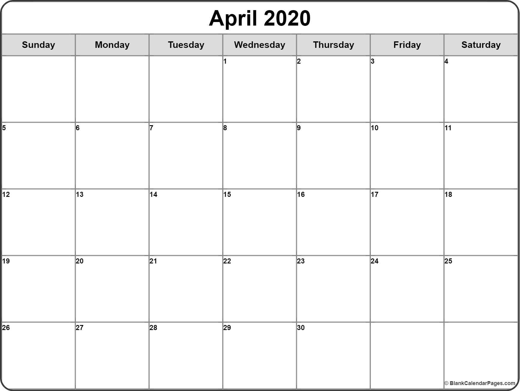 Monthly Calendar 2020 Printable Di 2020