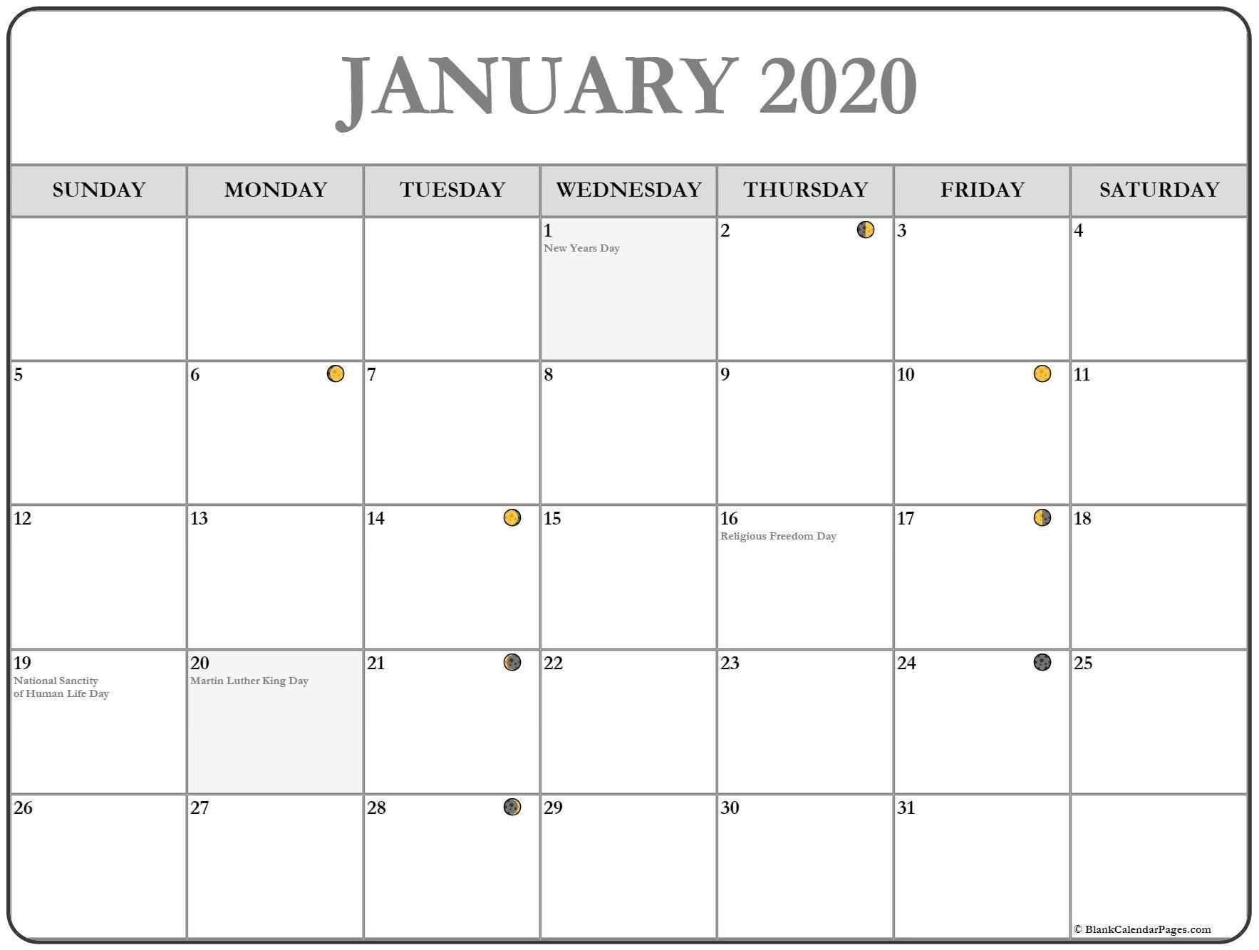 New Full Moon Phases For January 2020 Month | Calendar