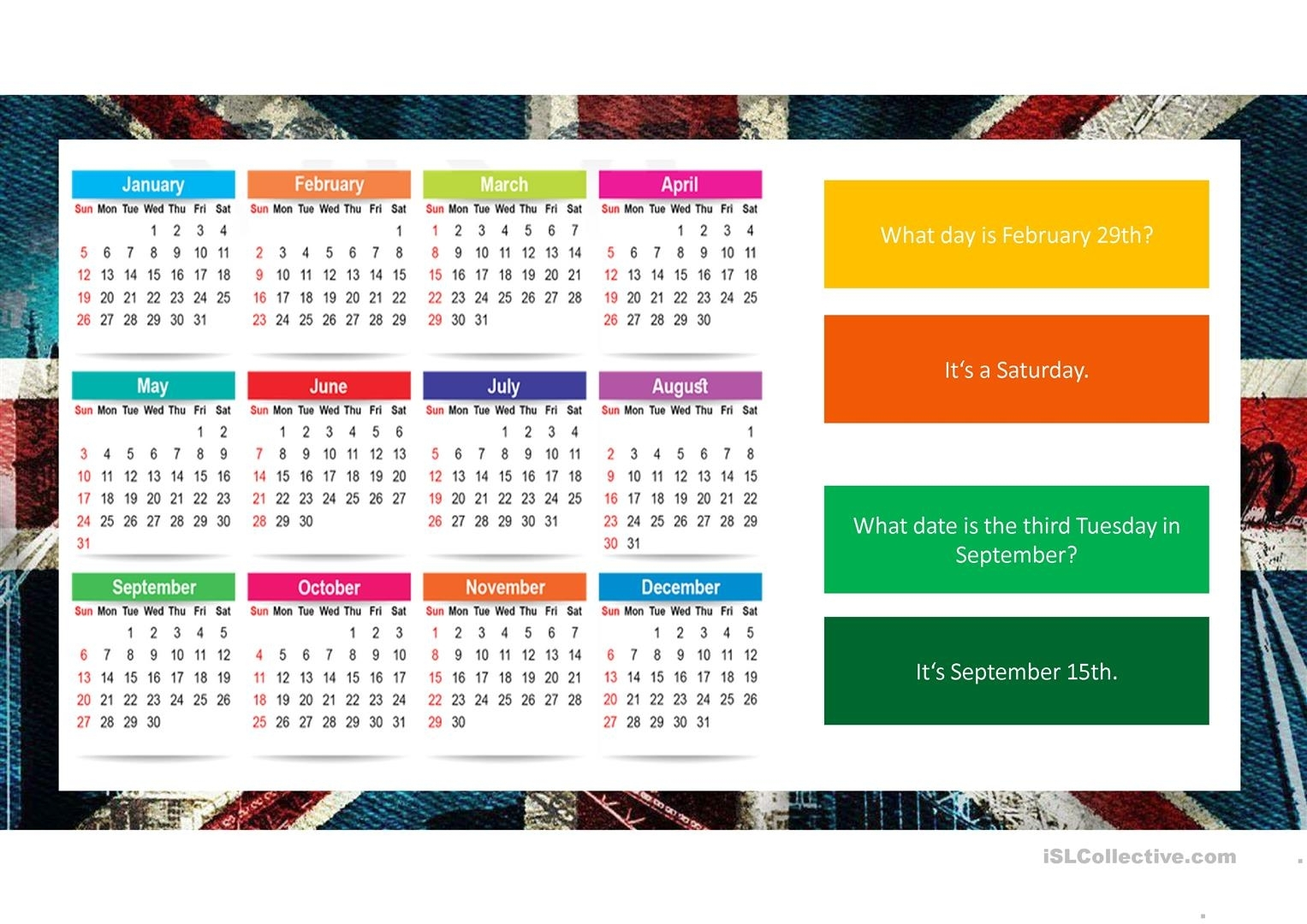 Ordinal Numbers And Dates - English Esl Powerpoints For