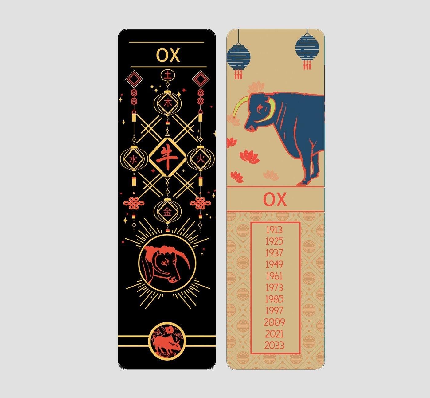 Ox Chinese Zodiac Bookmark In 2020   Ox Chinese Zodiac