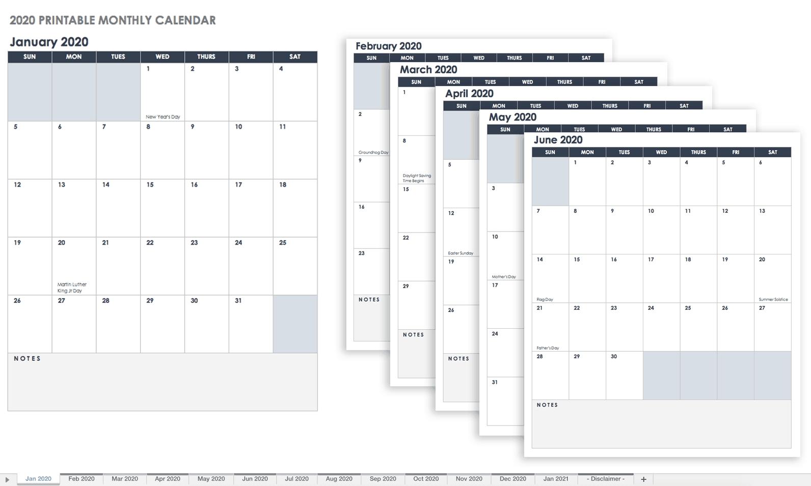 Plantillas De Calendario En Excel Gratuitas Y Listas Para