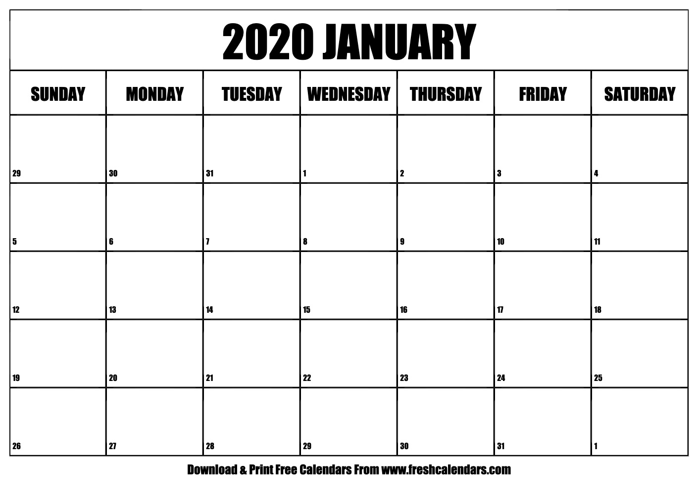 Print 2020 Calendar 11X17 | Calendar Printables Free Templates
