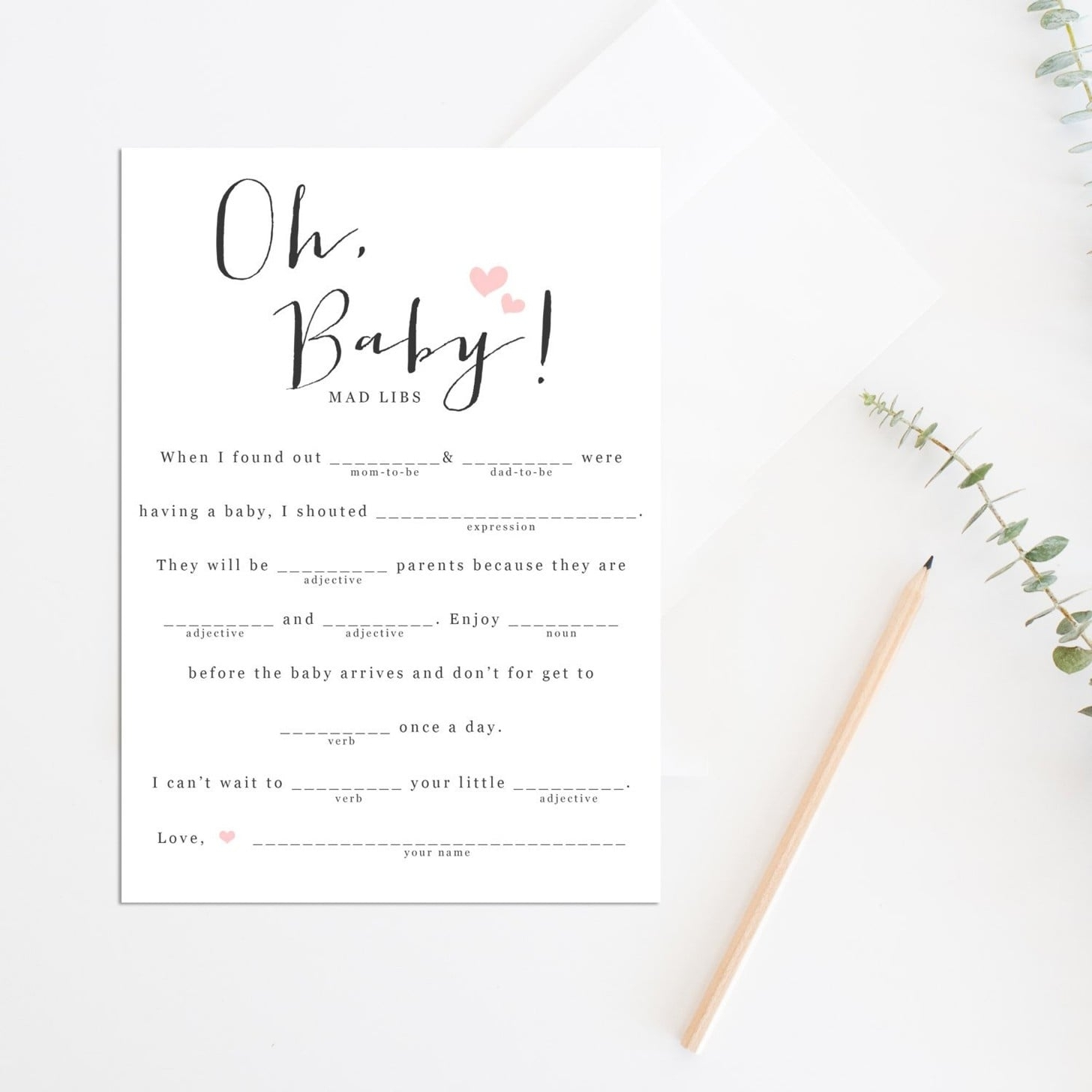 Printable Baby Shower Games | Popsugar Family